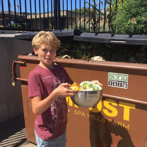 How do we get the organic waste out to the dumpster/tote? -