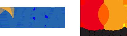 Logos - Visa and Mastercard